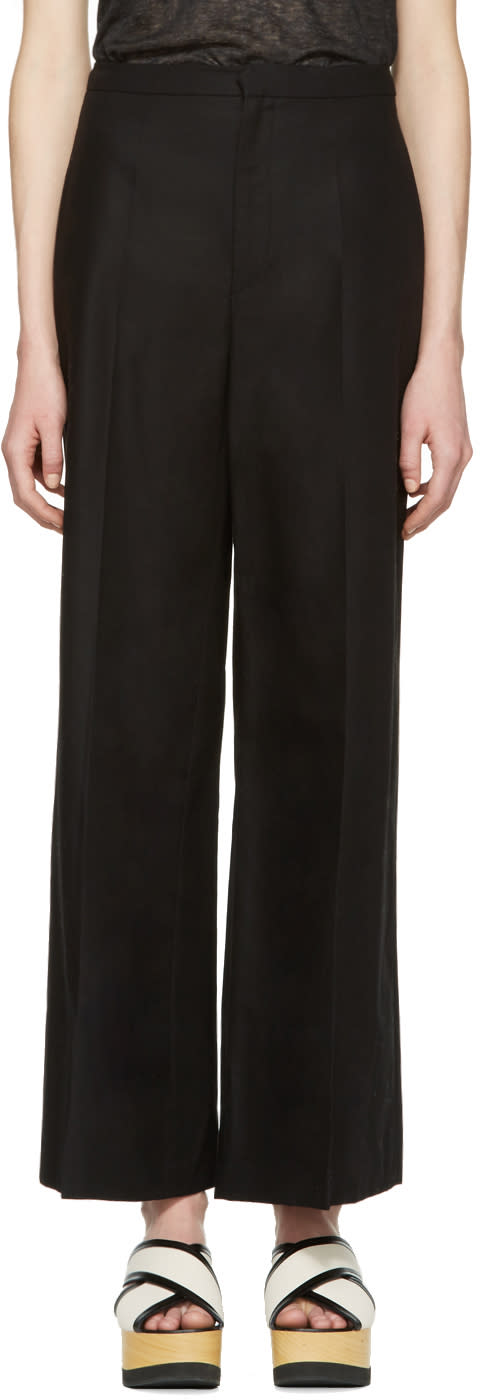 Isabel Marant Black Cotton Spanel Trousers