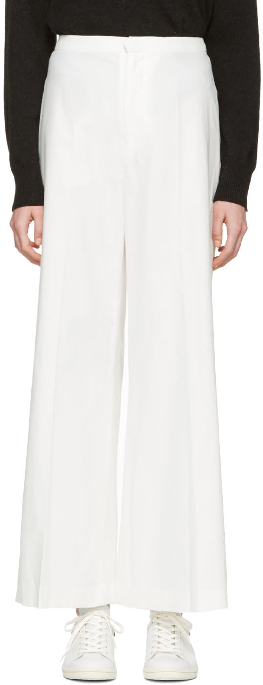 Isabel Marant White Cotton Spanel Trousers