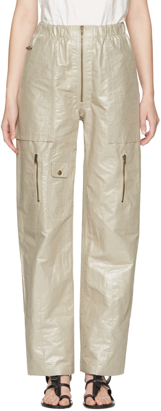 Isabel Marant Silver Loafer Cargo Trousers