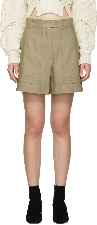 Image of Isabel Marant Beige Trey Shorts