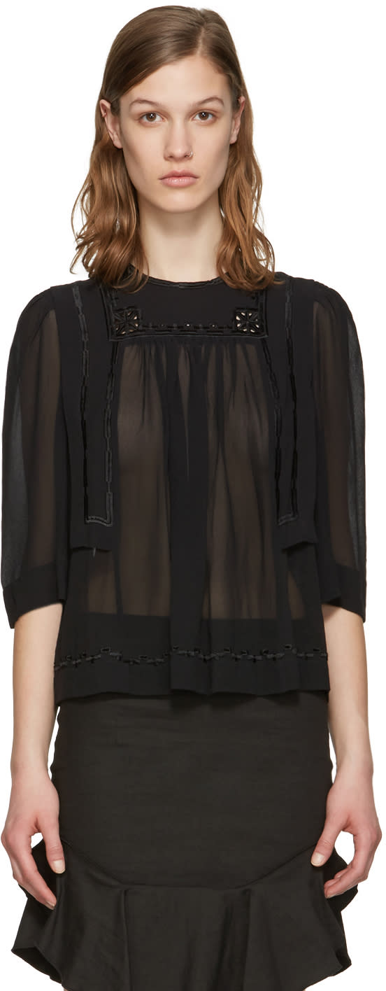 Isabel Marant Black Mara Blouse