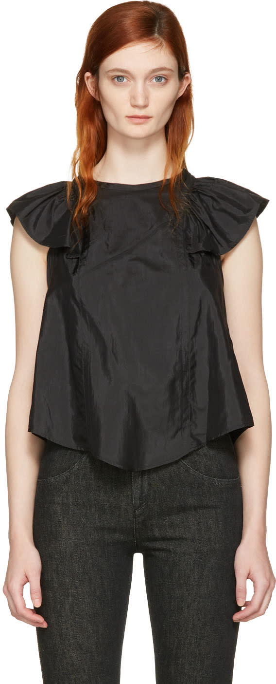 Isabel Marant Black Anselm Blouse