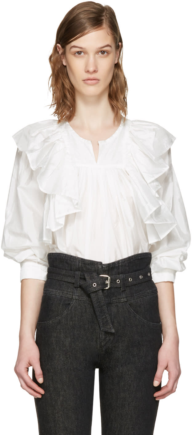 Isabel Marant White Arlington Blouse