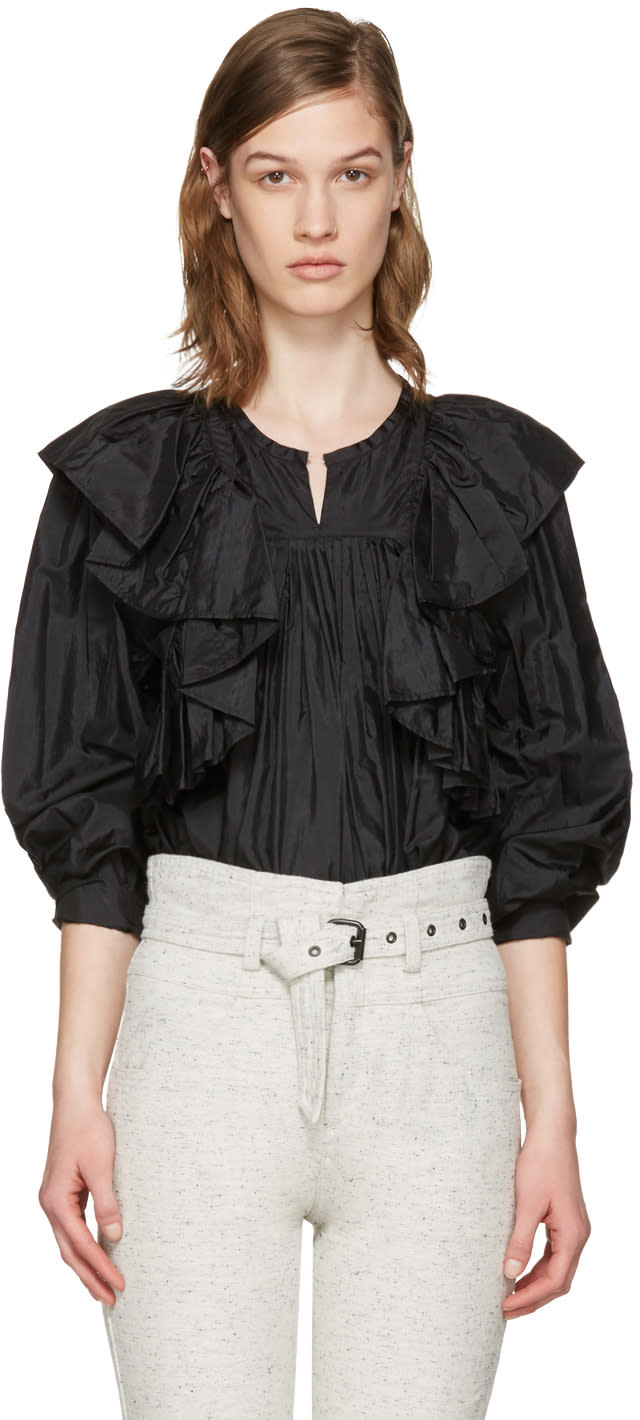 Isabel Marant Black Arlington Blouse