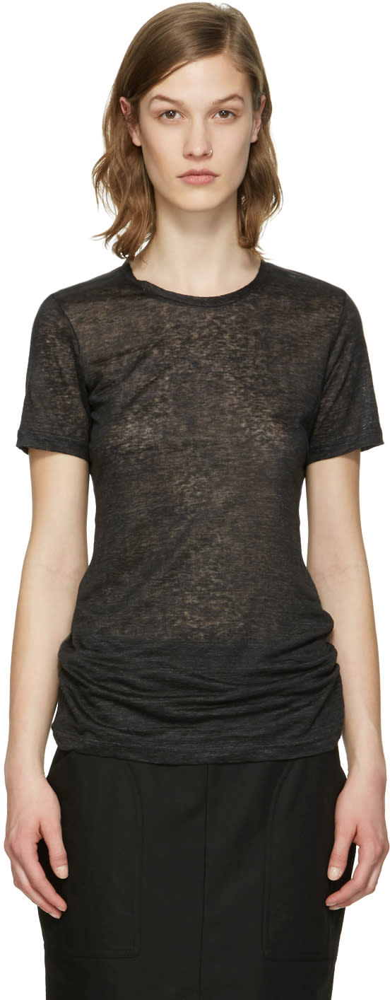 Isabel Marant Black Madras T-shirt