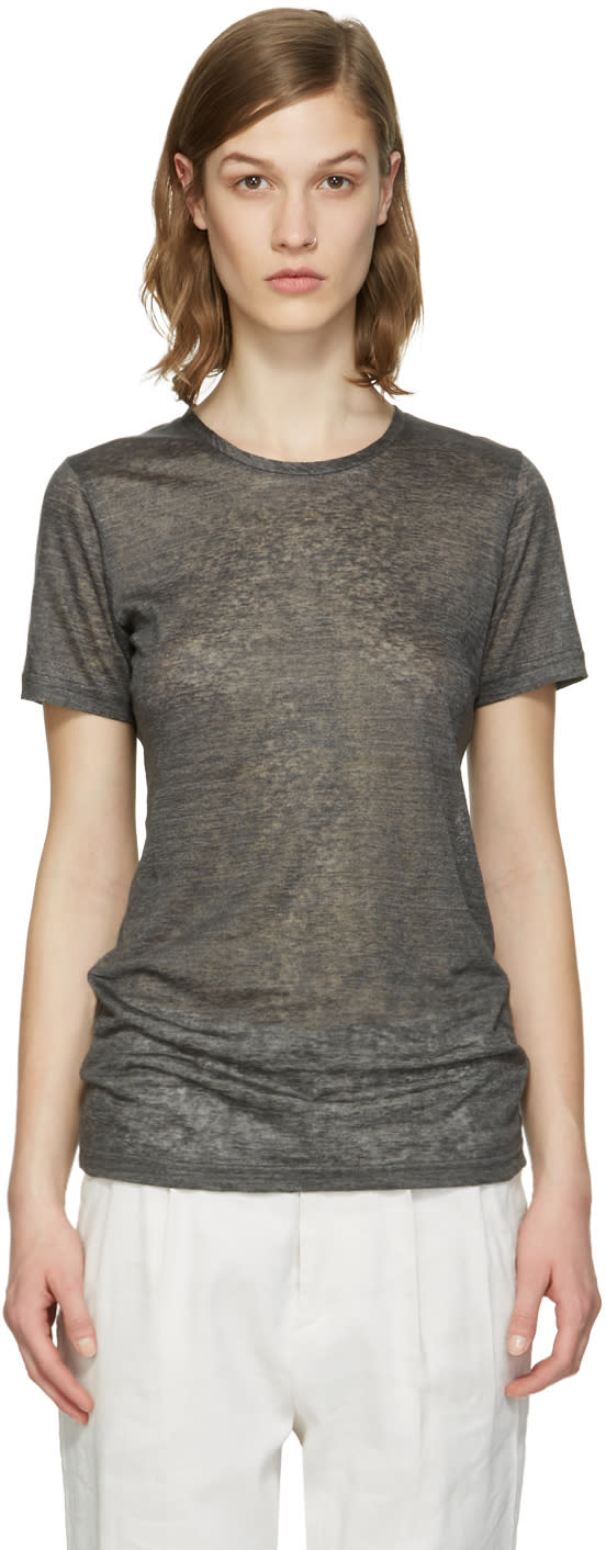 Isabel Marant Grey Madras T-shirt