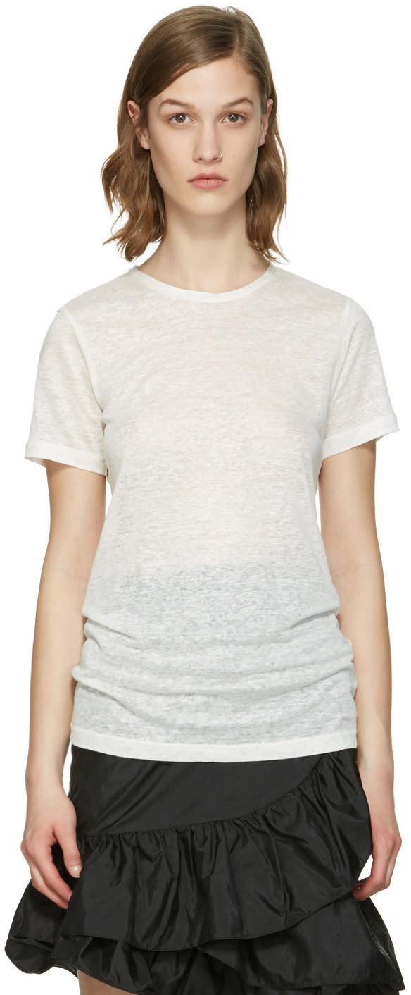 Isabel Marant White Madras T-shirt