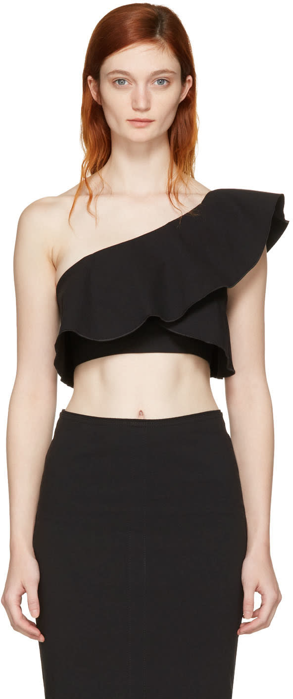 Isabel Marant Black Hayo Single-shoulder Crop Top