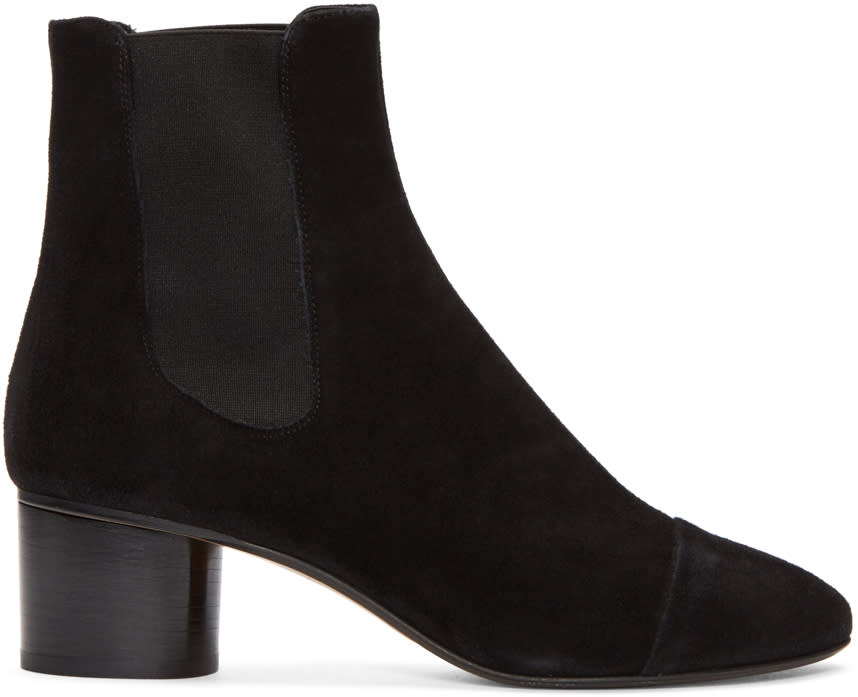 Isabel Marant Black Suede Danae Boots