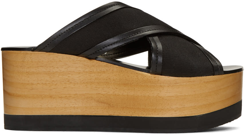 Isabel Marant Black Zerry Wedge Sandals