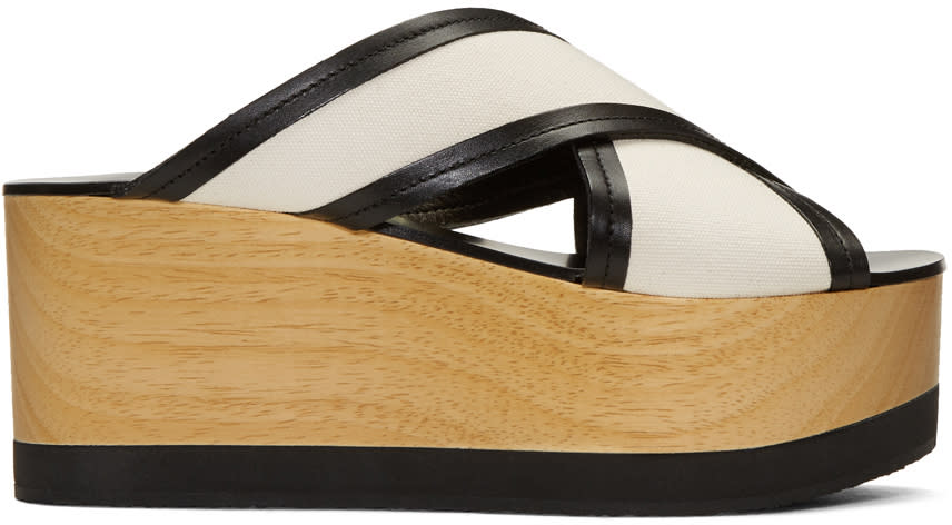 Isabel Marant Ecru Zerry Wedge Sandals