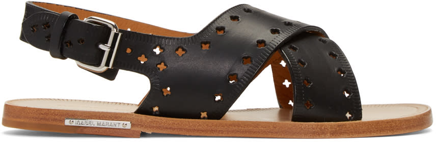 Isabel Marant Black Jerys Sandals