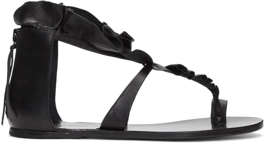 Isabel Marant Black Audry Ruffle Sandals