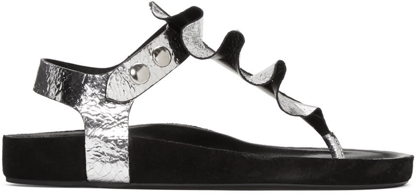 Isabel Marant Silver Leakey Sandals