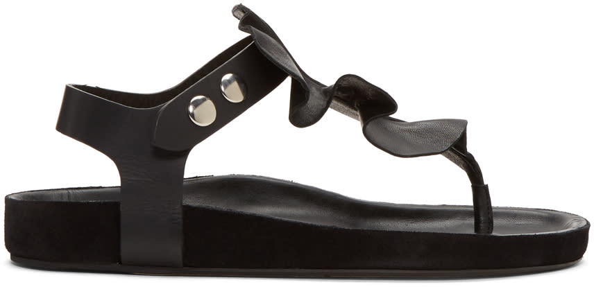 Isabel Marant Black Leakey Sandals