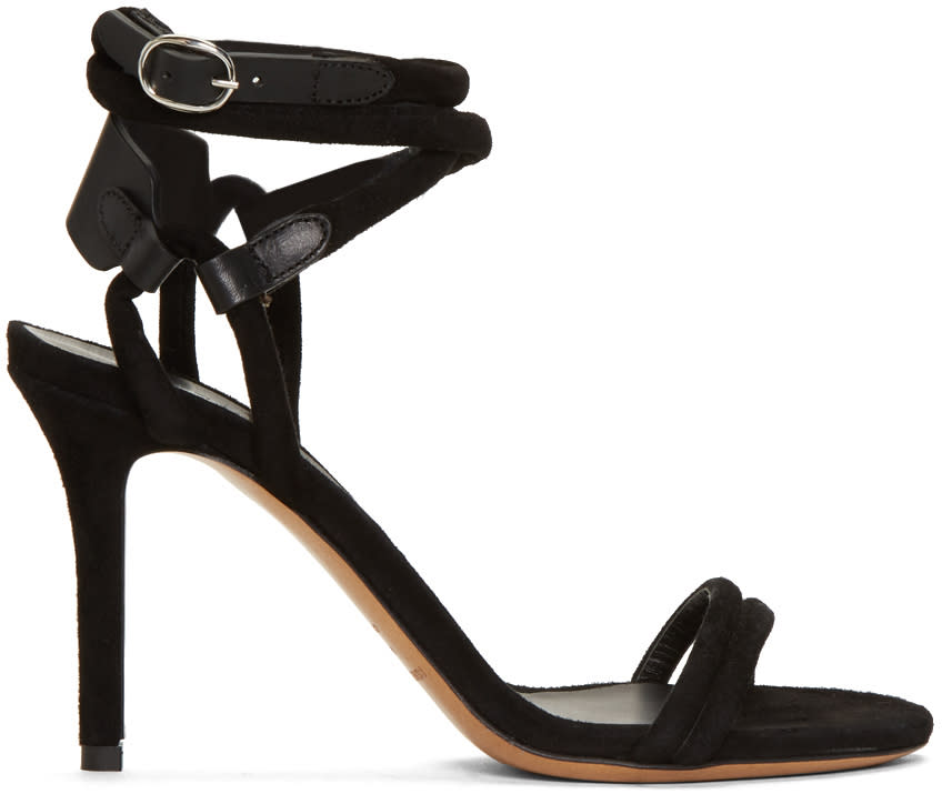 Isabel Marant Black Aoda Heeled Sandals
