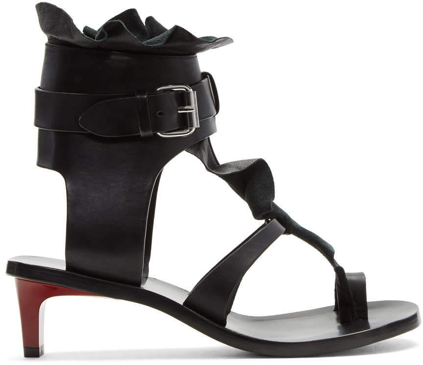 Isabel Marant Black Tamly Sandals