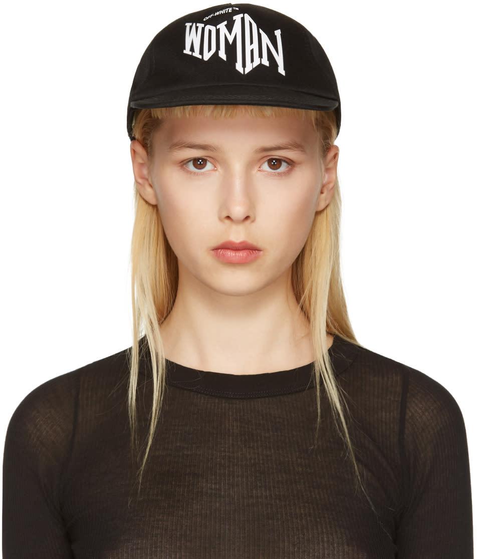 Off-white Black Typography Cap