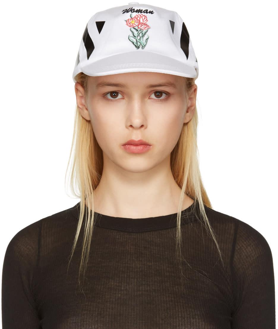 Off-white White New Flower Cap