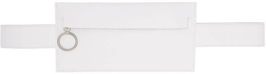 Off-white White Saff Single Hip Belt Pouch