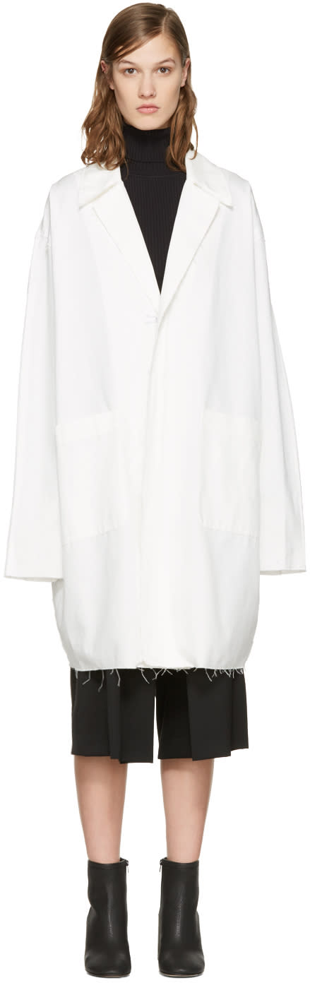 Off-white White Work Coat