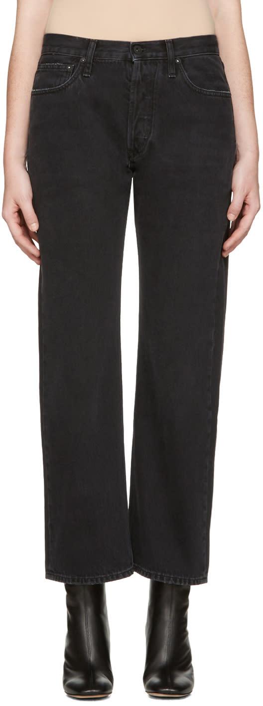 Off-white Black Scratch Boyfriend Diagonal Jeans