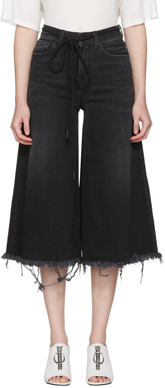 Off-white Black Arrow Capri Jeans