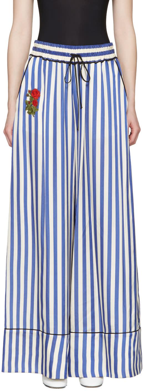 Off-white Blue Striped Pyjama Trousers