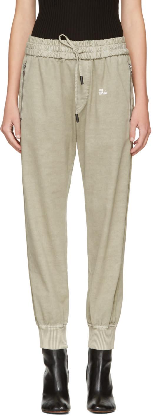 Off-white Beige Slim Track Pants