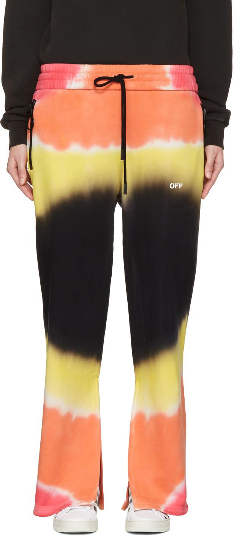 Off-white Multicolor Tie-dye Split Lounge Pants
