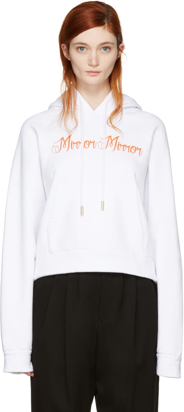 Off-white White mirror Mirror Hoodie