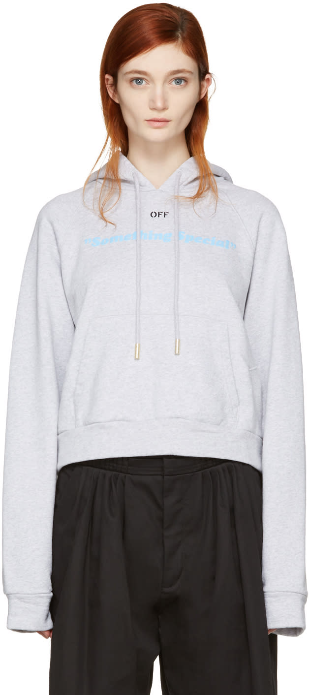 Off-white Grey something Special Hoodie