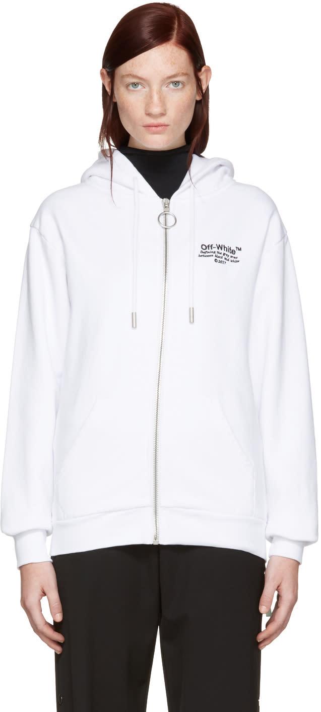 Off-white White Off Zip Hoodie