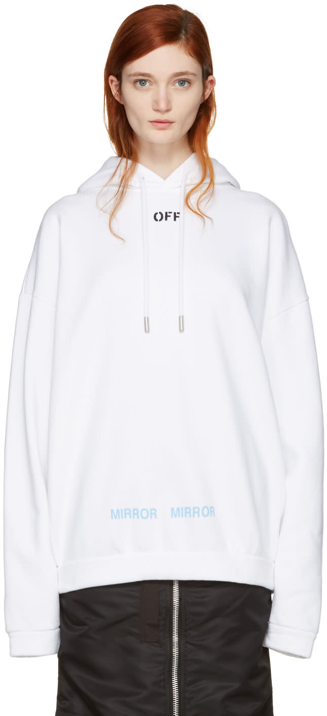 Off-white White Care off Hoodie