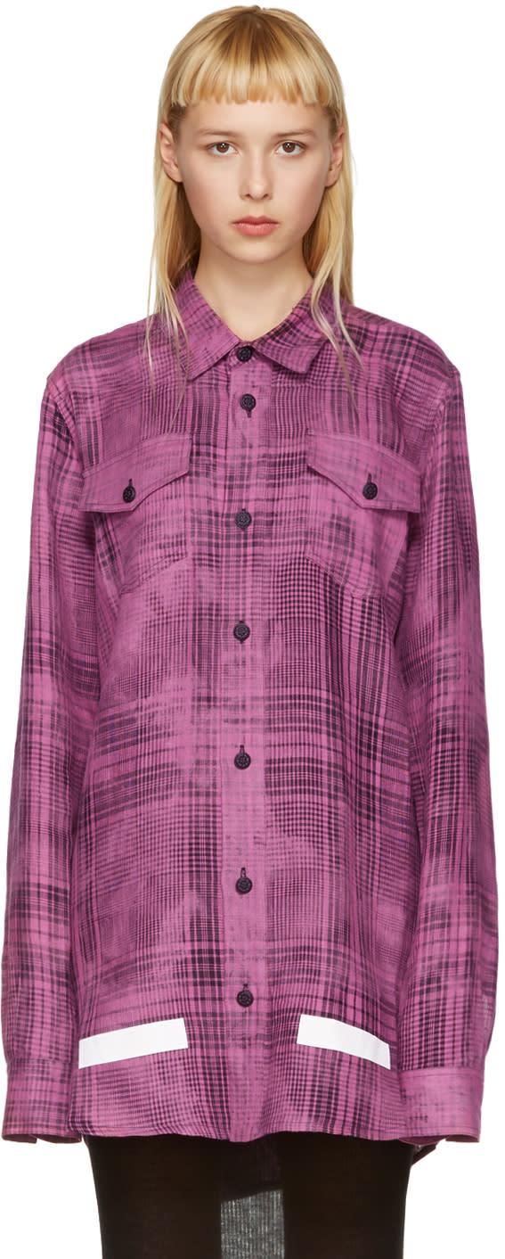 Off-white Pink Linen Check Shirt