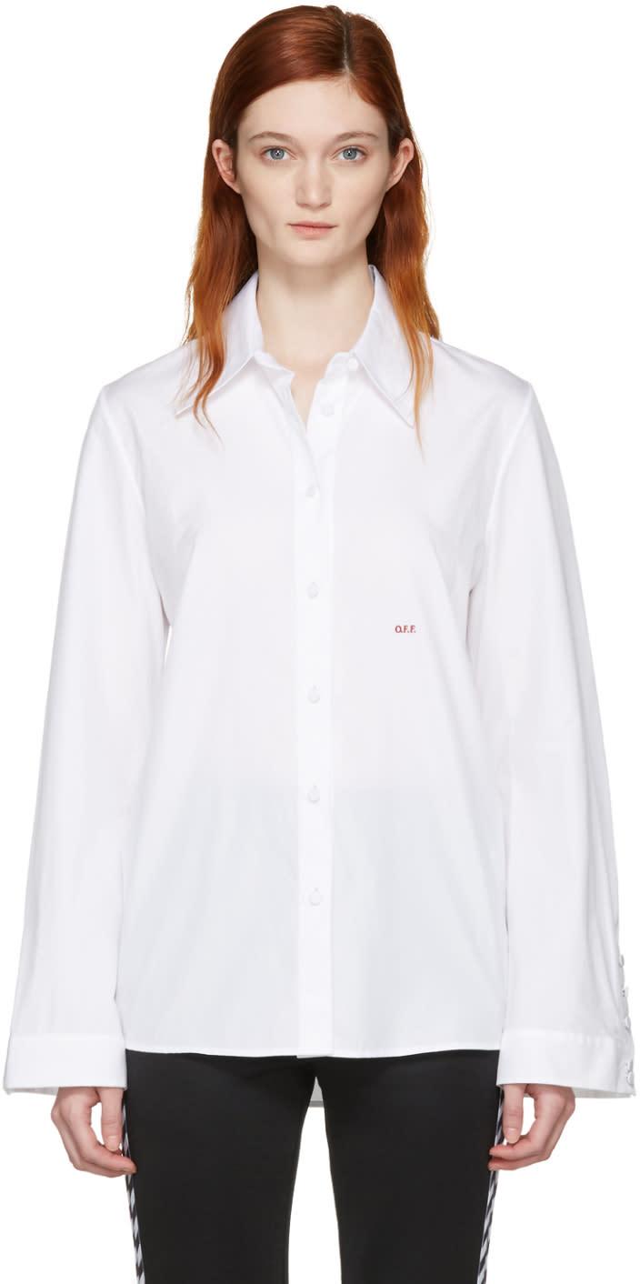 Off-white White Slim Fit Dress Shirt