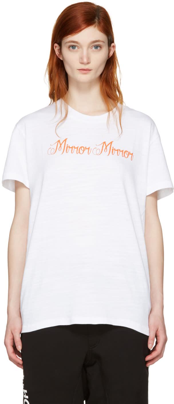Off-white White mirror Mirror T-shirt