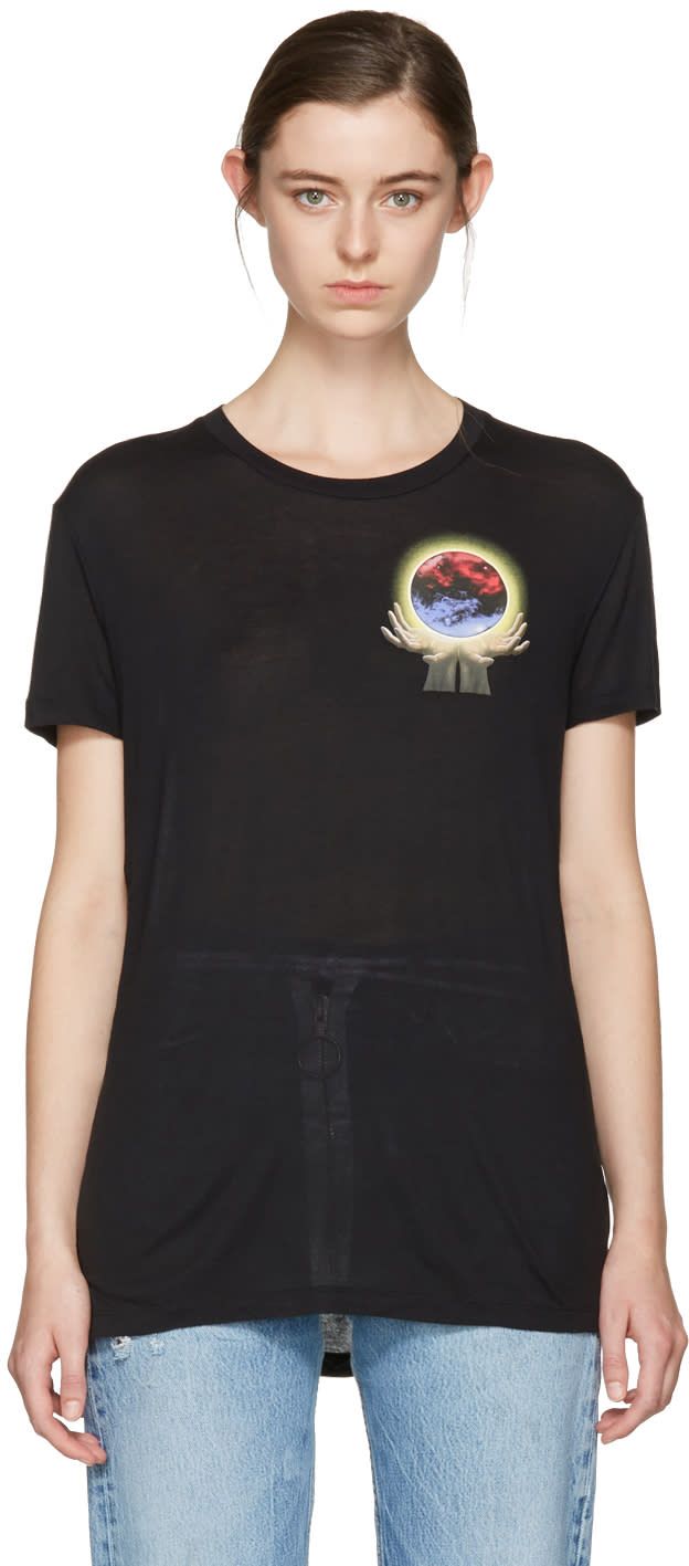 Off-white Black Hand Sphere Over T-shirt