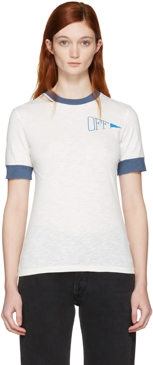 Off-white Off-white Ripped Tiny T-shirt