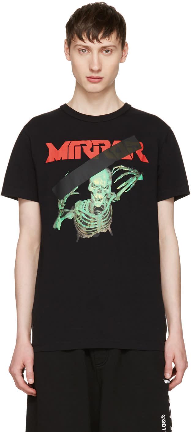 Off-white Black Skull Mirror T-shirt