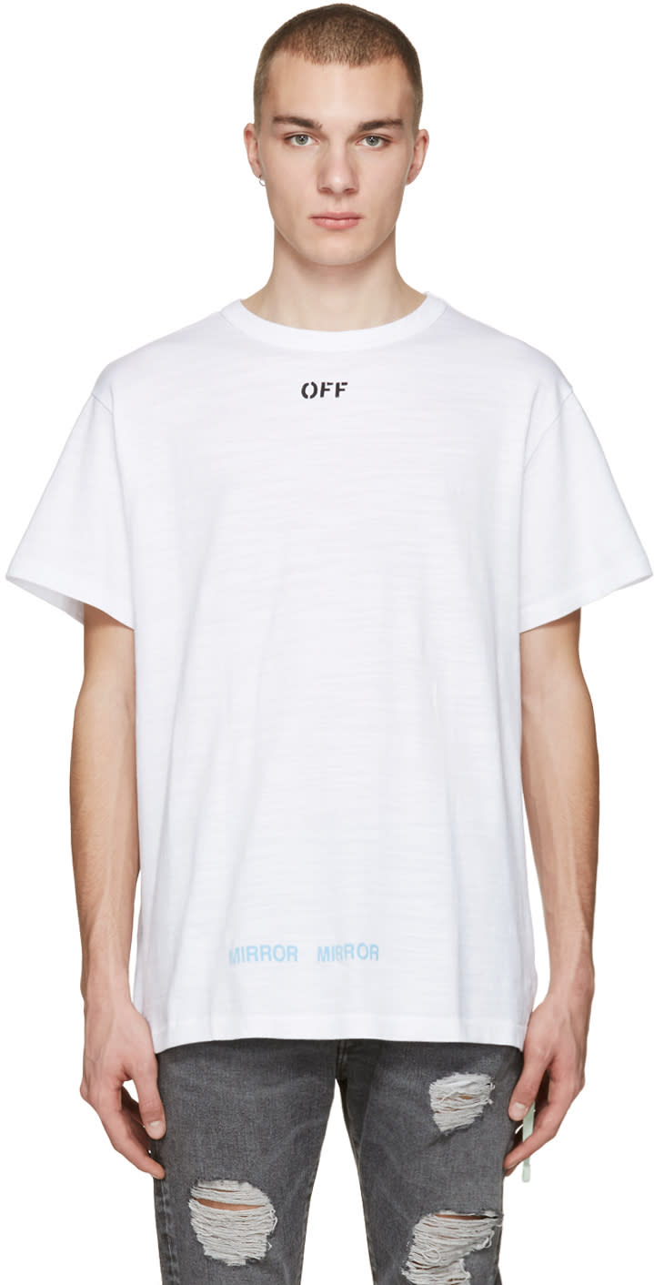 Off-white White Care off T-shirt