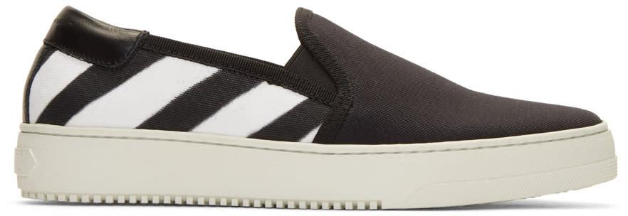Off-white Black Spray Slip-on Sneakers