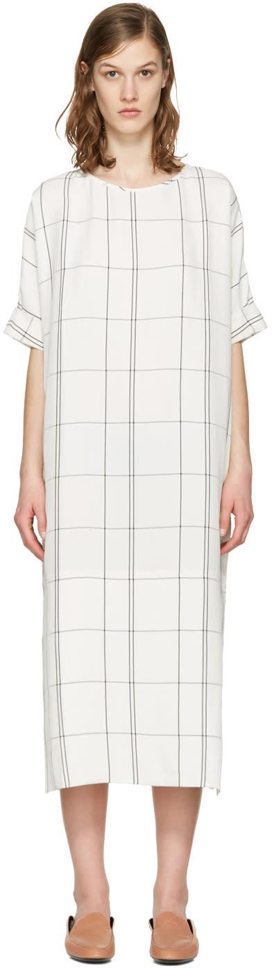Studio Nicholson Ivory Windowpane Ercole Dress