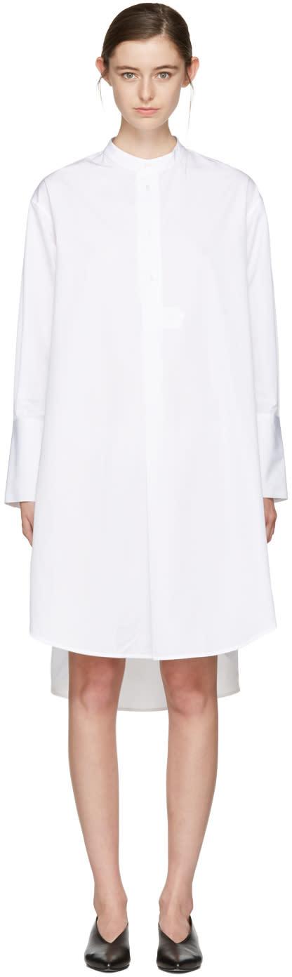 Studio Nicholson White Vico Oversized Shirt Dress