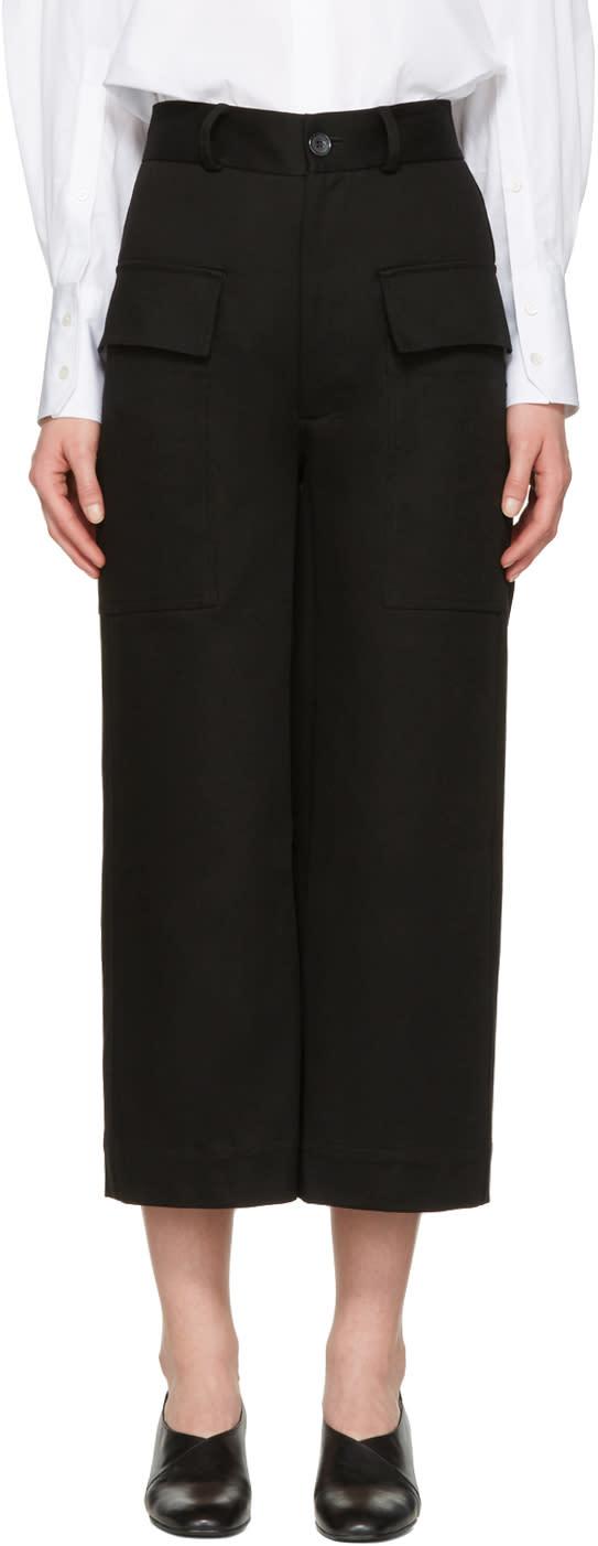 Studio Nicholson Black Twill Ventura Trousers