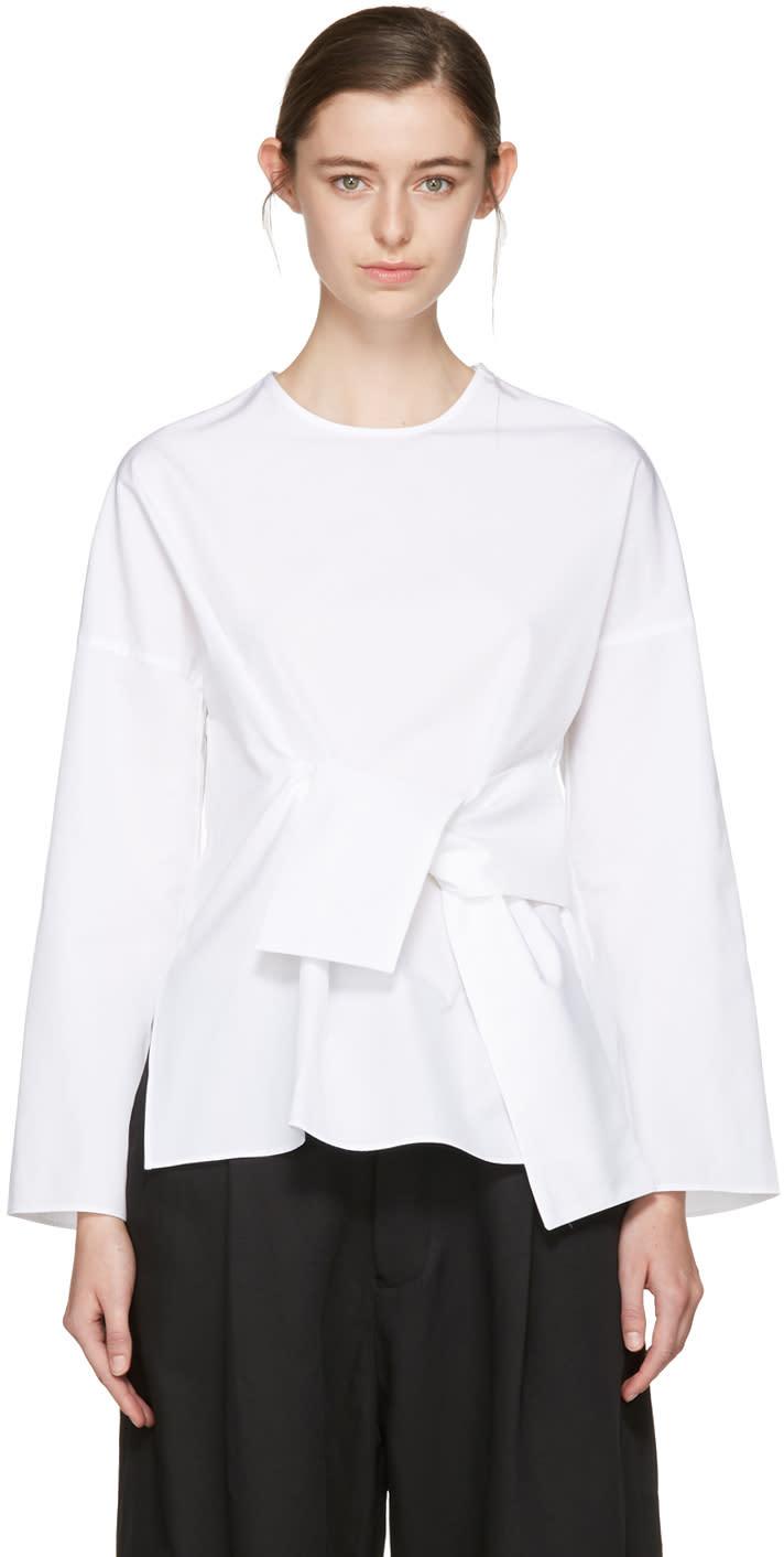 Studio Nicholson White Tulio Noisy Shirt