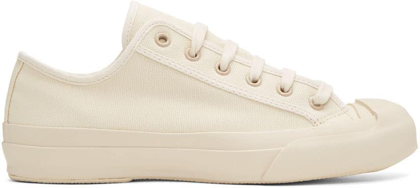 Image of Studio Nicholson Ivory Canvas Merino Sneakers