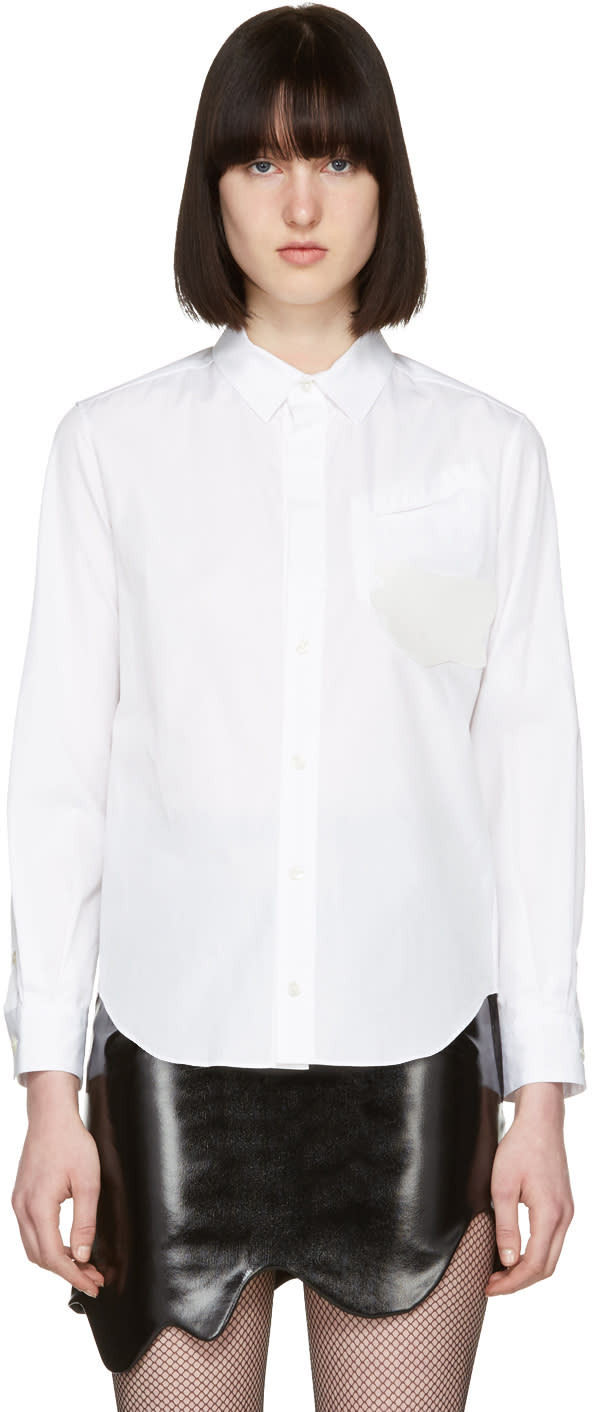 Toga White Silicone Applique Shirt