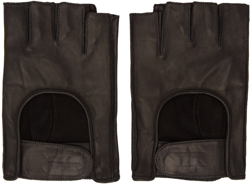 11 By Boris Bidjan Saberi Black Fingerless Gloves