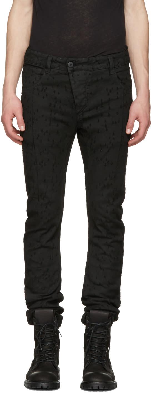 11 By Boris Bidjan Saberi Black Metric Laser Jeans